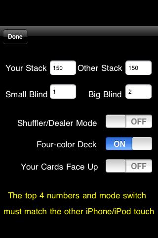 Screenshot Headsup Poker 3G Free (Texas Holdem & Omaha)